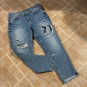 H&M &Denim high rise Mom jeans size women's 29